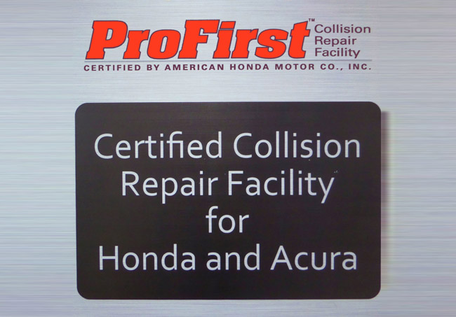 AUTO BODY SPECIALISTS, INC. ANNOUNCES HONDA PROFIRST CERTIFICATION